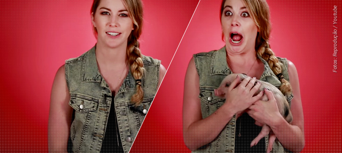 BuzzFeed colocou um porquinho nos braços de adoradores de bacon – veja como eles reagiram